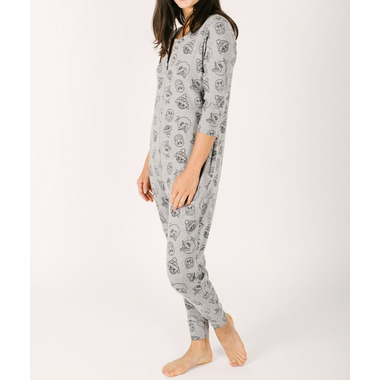 Smash + Tess x Sesame Street The Street Smart Romper Heathered Adult Grey
