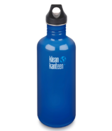 Klean Kanteen Classic Leakproof Loop Cap Water Bottle Blue Planet