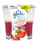 Glade 2 In 1 Candle Delicate Vanilla Apple Cinnamon