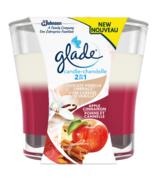 Glade 2 In 1 Candle Delicate Vanilla Apple Cinnamon
