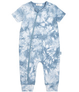 Miles Baby Blue Tie Dye Short Sleeve Playsuit