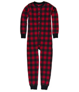 Hatley Kids Union Suit Red Buffalo Plaid