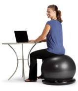 Gaiam Essentials Balance Ball & Base Kit Black