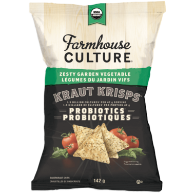 Farmhouse Culture Zesty Garden Vegetable Kraut Krisps