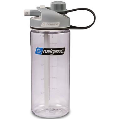 Nalgene 20 Ounce MultiDrink Bottle Clear with Gray Cap
