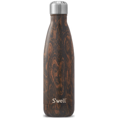 S\'well Wood Collection Stainless Steel Water Bottle Wenge Wood