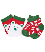 Hatley Little Blue House Baby Socks Beary Xmas