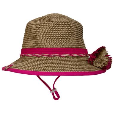 Calikids Mom & Me Straw Hat Raspberry Kid Sized