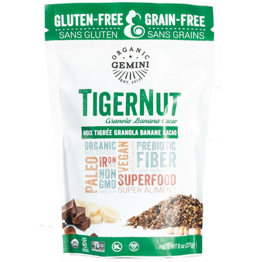Organic Gemini TigerNut Granola Banana Cacao