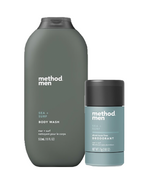 Method Men Sea + Surf Aluminum Free Deodorant and Body Wash Bundle