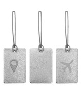 MYTAGALONGS Odessey Luggage Tag Set Silver