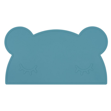 We Might Be Tiny Bear Placemat Blue Dusk