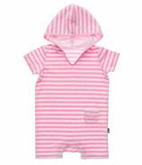 Snapper Rock Pink & White Stripe Onesie