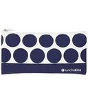 Lunchskins Navy Dot Small Zip Bag