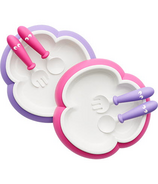 BabyBjorn Baby Plate, Spoon and Fork Pink & Purple