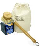 Make Nice Company Dish Soap + Brush Kit Charcoal