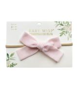 Serre-tête Baby Wisp avec nœud en velours rose clair