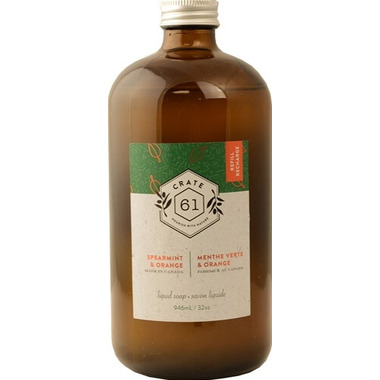Crate 61 Organics Spearmint Orange Liquid Soap Refill