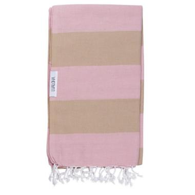 Lualoha Turkish Towel Buddhaful Powder Pink & Sand