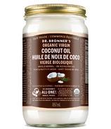 Huile de noix de coco vierge entière biologique Dr. Bronner's Large