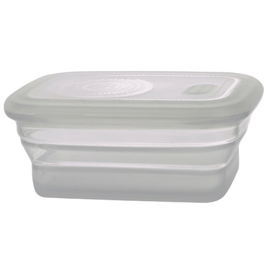 Minimal Silicone Food Container Clear