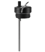 Klean Kanteen TKWide Twist Cap with Straw Black Brushed Stainless