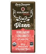 Zazubean Vixen Cherry & Hazelnut Dark Chocolate