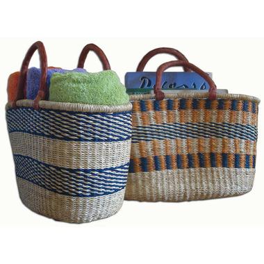 Alaffia Handwoven African Oval Basket