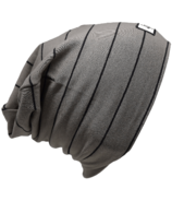 L&P Apparel Cotton Slouchy Beanie Urban Grey Earth & Black