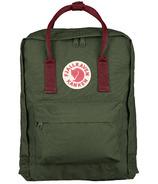 Fjallraven Kanken Backpack Forest Green & Ox Red