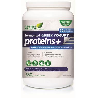 Genuine Health fermented GREEK YOGURT proteins+ Protein Powder Plain