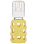 Lifefactory Glass Baby Bottle with Silicone Sleeve Banana