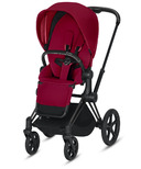 Cybex Priam Matte Black Frame with True Red Seat Pack