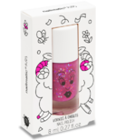 nailmatic Sheepy Kids Water-Based Nail Polish Clear Rasberry Glitter