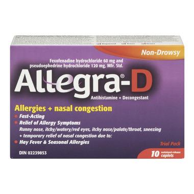 Allegra-D Allergies + Nasal Congestion Trial Pack