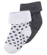 Noppies Dot Socks Grey Melange 2 Pack