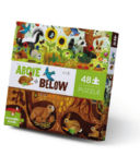 Crocodile Creek 48-Piece Above & Below Puzzle Backyard Discovery