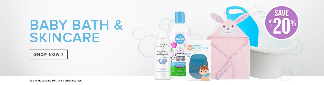 Save up to 20% on Baby Bath & Skincare