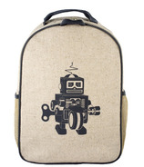 SoYoung Raw Linen Grey Robot Toddler Backpack