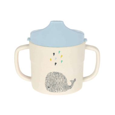 Lassig Bamboo Sippy Cup Little Water Collection Whale