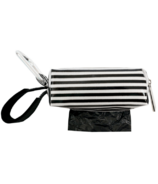 Oh Baby Bags Duffel Dispenser Set Black & White Stripe
