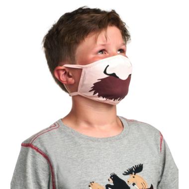 Hatley Non-Medical Reusable Kids Face Mask Moustache