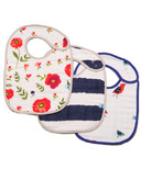 Little Unicorn Cotton Classic Bibs Summer Poppy