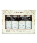 Scentuals Essential Travel Kit Coconut