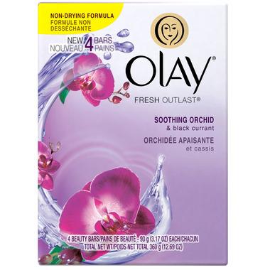 Olay Fresh Outlast Soothing Orchid & Black Currant Beauty Bar