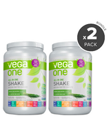 Vega One Unsweetened Natural Flavoured 2 Pack Bundle