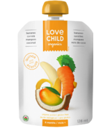 Love Child Organics Bananas, Carrots, Mangoes, Coconut Puree
