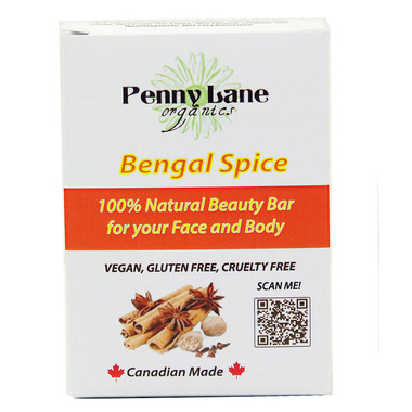 Penny Lane Organics 100% Natural Beauty Bar Bengal Spice