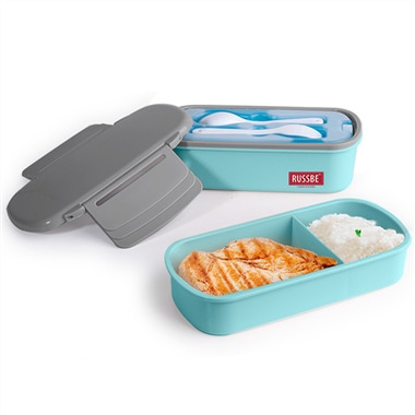 Russbe Double Stack + Chill Bento With Ice Pack Powder Blue