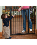 KidCo Tall & Wide Auto Close Gateway Black